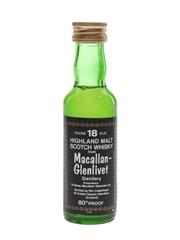 Macallan Glenlivet 18 Year Old Bottled 1970s - Cadenhead's 5cl / 46%