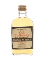 Old Pulteney 8 Year Old 70 Proof Bottled 1970s - Gordon & MacPhail 5cl / 40%