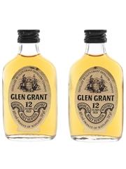 Glen Grant 12 Year Old Bottled 1970s-1980s 2 x 5cl / 40%