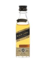 Johnnie Walker Black Label 12 Year Old Bottled 1980s-1990s 5cl / 40%