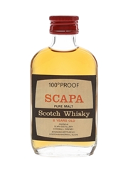 Scapa 8 Year Old 100 Proof Bottled 1970s - Gordon & MacPhail 5cl / 57%