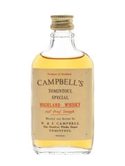 Campbell's Tomintoul Special 100 Proof Bottled 1970s 5cl / 57%