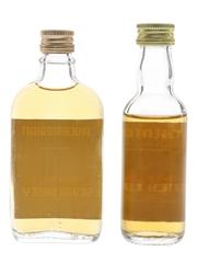 Auchentoshan Pure Malt Bottled 1970s & 1980s 2 x 5cl / 40%
