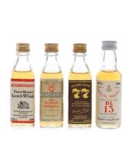 Douglas Laing Auchinloch, DL13, Kentshire & 77 Bottled 1980s 4 x 3.7cl-5cl / 40%