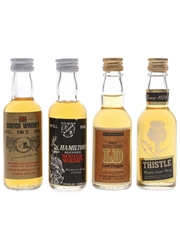 Assorted Douglas Laing & Slater, Rodger & Co. Blends Bottled 1980s 4 x 5cl