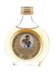 Royal Wedding Commemorative Miniature 1981 Bottled 1980s - Stuart & Sons Of Dundee 7.1cl / 40%