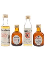 Black Douglas, Noble Glen & Speakers Bottled 1980s - Block, Grey & Block Ltd. 4 x 5cl / 40%