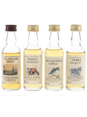 Edinburgh Zoo & The Whisky Shop Blends Glasgow Mist, Panda Potion, Rockhopper Tipple & Zebra Zelect 4 x 5cl / 40%