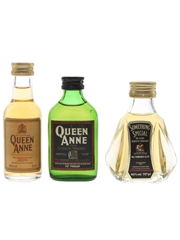 Something Special & Queen Anne Bottled 1970s & 1980s 3 x 5cl / 40%