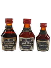 Irish Mist Bottled 1970s 3 x 2.8cl-4.7cl