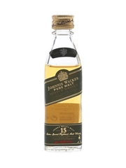 Johnnie Walker 15 Year Old Pure Malt Green Label Bottled 1990s 5cl / 43%