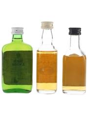 Buchanan's Blended Whisky Bottled 1970s & 1980s 3 x 5cl / 40%