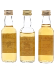 George Strachan Auld Curlers, Gael Lonac & Kindrochit Castle Bottled 1980s 3 x 5cl / 40%