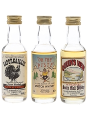 Assorted Blended Scotch Whisky Callander, Haggis Gravy & On The Piste 3 x 5cl