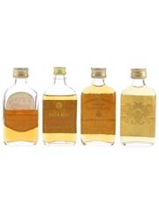 Assorted Blended Whisky Bottled 1970s 4 x 5cl / 40%