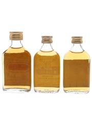 Gairloch, Harts & Lombard's Bottled 1970s-1980s 3 x 4.7cl-5cl