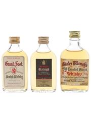 Grand Scot, Raleigh & Sandy Macnab's Bottled 1970s-1980s 3 x 4.6cl-5cl