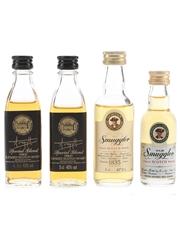 Argyll & Old Smuggler Bottled 1980s 4 x 3cl-5cl