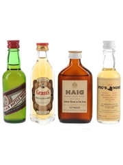 Black Bottle, Grant's, Haig & Pig's Nose Bottled 1970s 4 x 4.7cl-5cl / 40%