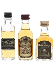 Antiquary, Chivas Regal & House Of Lords 12 Year Old  3 x 5cl