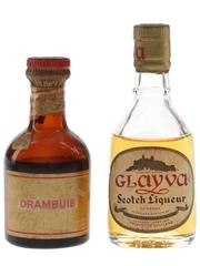 Drambuie & Glayva Bottled 1960s 2 x 5cl / 40%