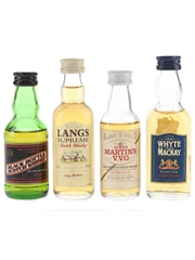 Black Bottle, James Martin's, Langs Supreme & Whyte And Mackay  4 x 5cl