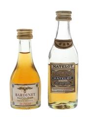 Bardinet & Matelot French Brandy Bottle 1970s 2 x 3cl / 40%