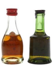 Bisquit & Prince Hubert De Polignac 3 Star Bottled 1960s-1970s 2 x 3cl / 40%