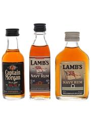 Captain Morgan & Lamb's Bottled 1980s-1990s 3 x 5cl / 40%