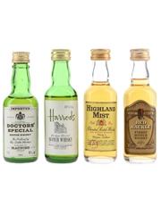 Doctors' Special, Harrods, Highland Mist & Red Hackle  4 x 4.7cl-5cl