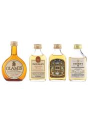 Glamis, Mackinlay's, Old Royal & Usher's Bottled 1970s-1980s 4 x 5cl