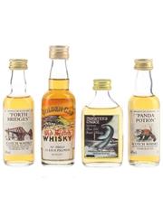 Forth Bridges, Golden Cap, Monster's Choice & Panda Potion Bottled 1970s-1980s 4 x 5cl / 40%