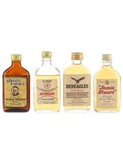 Abbot's Choice, Avonside, Beneagles & Jamie Stuart Bottled 1970s 4 x 5cl / 40%