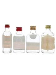 Borzoi, Czarina, Huzzar & Romanoff Vodka Bottled 1970s & 1980s 4 x 4.7cl-5cl