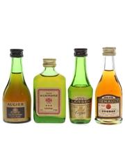 Augier, Gaston De Lagrange, Larsen & Renault Cognac Bottled 1970s 3 x 2.8cl-5cl