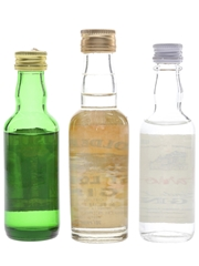 Coldstream, Golden Cap & Harrods Bottled 1970s & 1980s 3 x 5cl / 40%