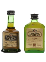 Prince Hubert De Polignac 3 Star Bottled 1970s 3.9cl & 4.2cl / 40%