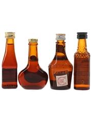 B and B, Cusenier & Mandarine Napoleon Bottled 1960s & 1970s 4 x 3cl-5cl