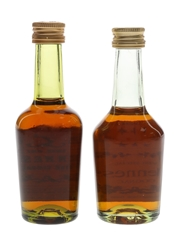Hennessy 3 Star & Bras Arme Bottled 1970s 2 x 5cl / 40%