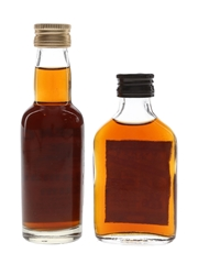 Golden Cap & Myers's Rum Bottled 1970s 2 x 5cl