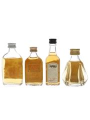 Dewar's, Grendel's, Hundred Pipers & Something Special Bottled 1970s 4 x 3.7cl-5cl