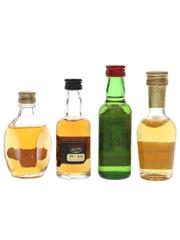 Dimple, Glenfoyle 12 Year Old, J & B & Old Smuggler Bottled 1970s 4 x 5cl