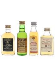 Carlton 5 Year Old, Catto's, Hankey Bannister & Imperial 5 Year Old Bottled 1980s 4 x 4cl-5cl / 40%