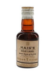 Haig's Gold Label Spring Cap Bottled 1956 - Beaumaine 5cl