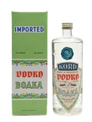 Kord Vodka Bottled 1960s 75cl