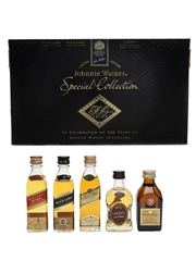Johnnie Walker Special Collection Bottled 1990s 5 x 5cl