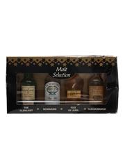 Assorted Malt Selection Bottled 1990s - Bowmore, Glenlivet, Glenmorangie & Jura 4 x 5cl / 40%