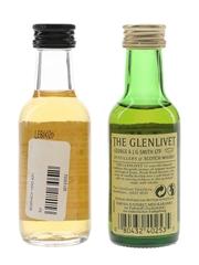 Benriach & Glenlivet Bottled 1990s 2 x 5cl
