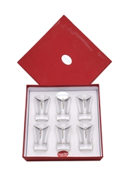 Shot Glasses With Silver Decoration  7cm Tall