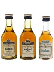 Martell 3 Star Bottled 1970s 3 x 5cl / 40%